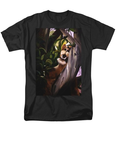 Men's T-Shirt  (Regular Fit) featuring the painting Satisfied by Renate Nadi Wesley