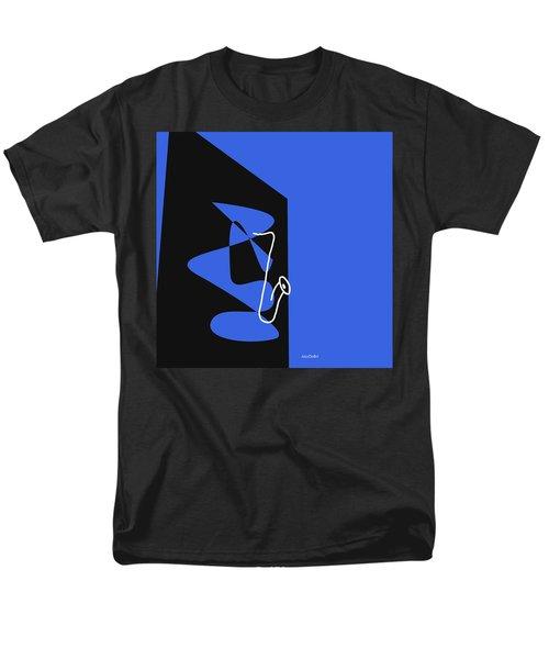 Saxophone In Blue Men's T-Shirt  (Regular Fit) by David Bridburg
