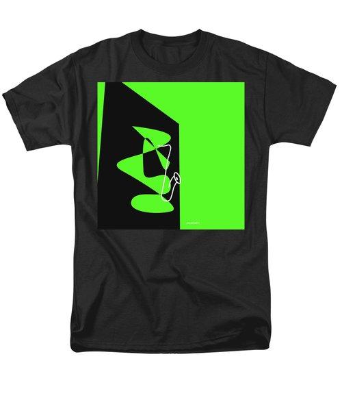 Saxophone In Green Men's T-Shirt  (Regular Fit) by David Bridburg