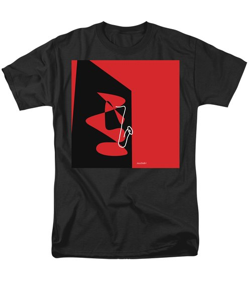 Saxophone In Red Men's T-Shirt  (Regular Fit) by David Bridburg