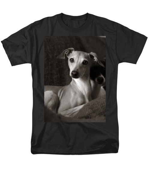 Say What Italian Greyhound Men's T-Shirt  (Regular Fit) by Angela Rath