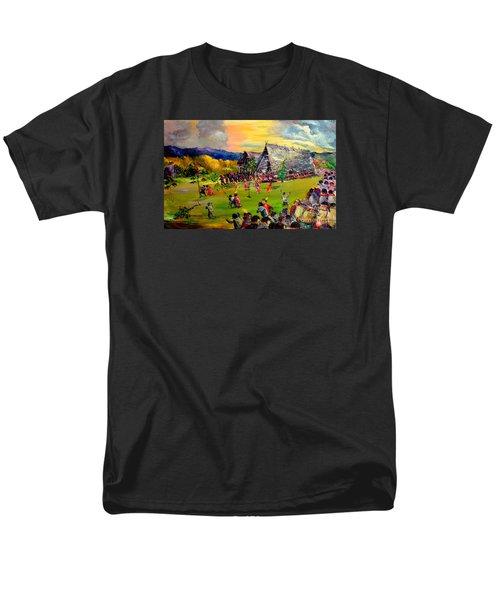 Men's T-Shirt  (Regular Fit) featuring the painting Sbiah Baah by Jason Sentuf