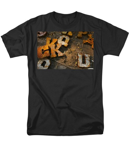 Men's T-Shirt  (Regular Fit) featuring the photograph Scamble Letters by Randy Pollard