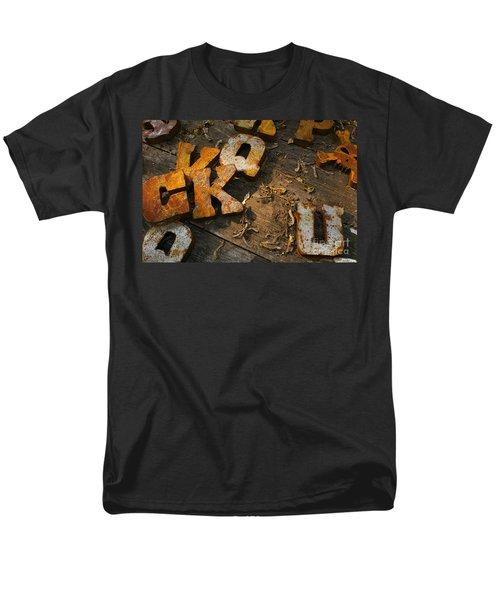 Scambled Letters Men's T-Shirt  (Regular Fit)