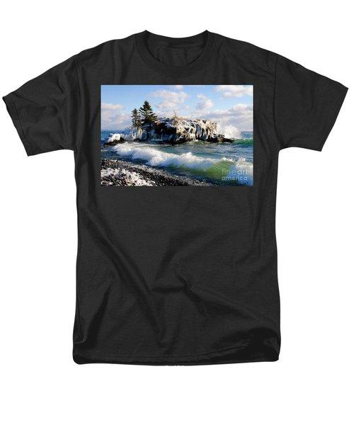 Sea Smoke At Hollow Rock Men's T-Shirt  (Regular Fit) by Sandra Updyke