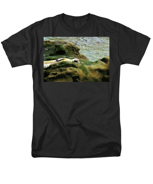 Men's T-Shirt  (Regular Fit) featuring the photograph Seal On The Rocks by Anthony Jones