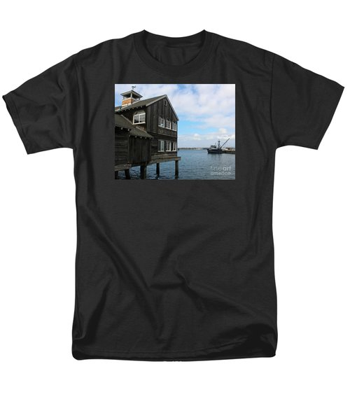 Men's T-Shirt  (Regular Fit) featuring the photograph Seaport Village San Diego by Cheryl Del Toro