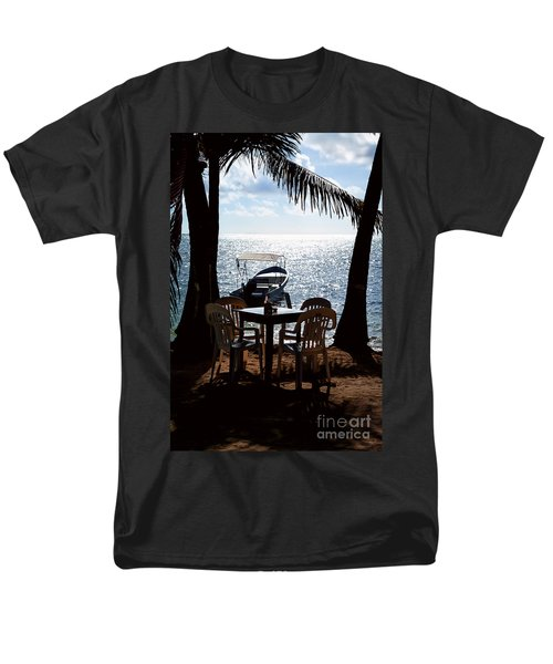 Men's T-Shirt  (Regular Fit) featuring the photograph Seaside Dining by Lawrence Burry
