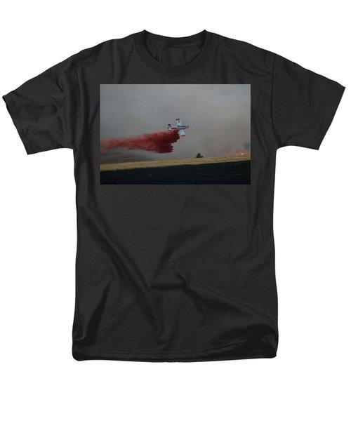 Seat Drops On Indian Canyon Fire Men's T-Shirt  (Regular Fit) by Bill Gabbert