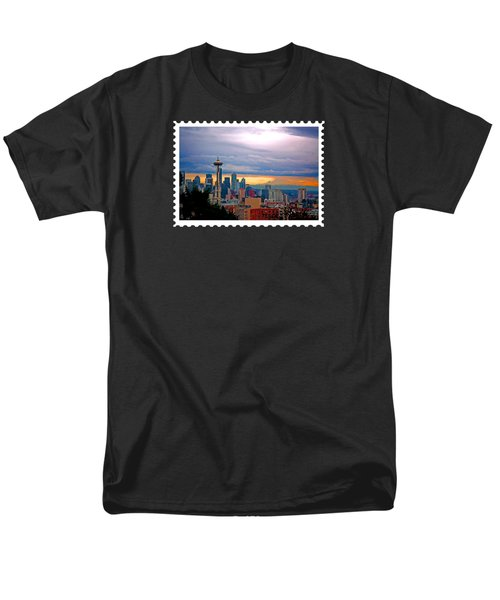 Seattle At Sunset Men's T-Shirt  (Regular Fit) by Elaine Plesser
