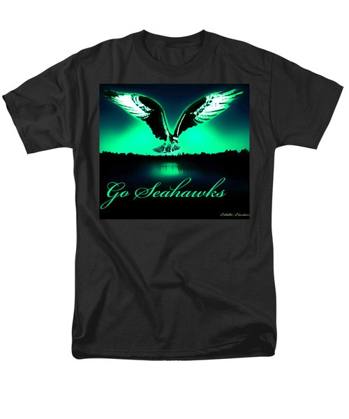Men's T-Shirt  (Regular Fit) featuring the photograph Seattle Seahawks by Eddie Eastwood
