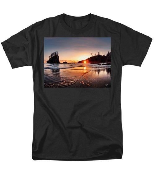 Second Beach 3 Men's T-Shirt  (Regular Fit) by Leland D Howard