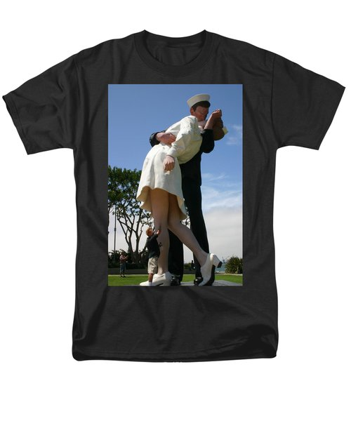Men's T-Shirt  (Regular Fit) featuring the photograph Seeeeport Village San Diego by Marie Neder