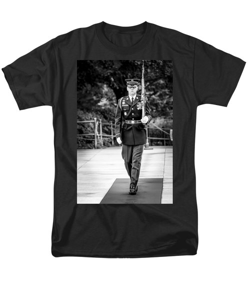 Men's T-Shirt  (Regular Fit) featuring the photograph Sentinel At The Tomb Of The Unknowns by David Morefield