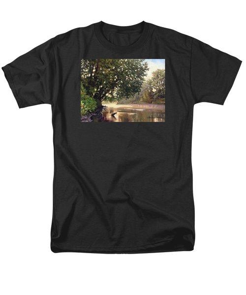 September Dawn Little Sioux River - Plein Air Men's T-Shirt  (Regular Fit) by Bruce Morrison
