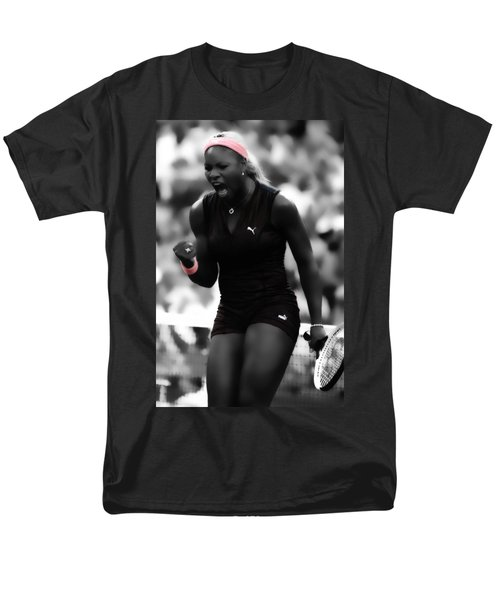 Serena Williams On Fire Men's T-Shirt  (Regular Fit) by Brian Reaves
