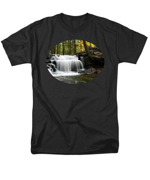 Serenity Waterfalls Landscape Men's T-Shirt  (Regular Fit)