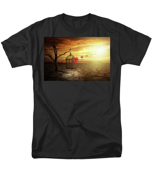 Men's T-Shirt  (Regular Fit) featuring the digital art Set Your Self Free by Nathan Wright