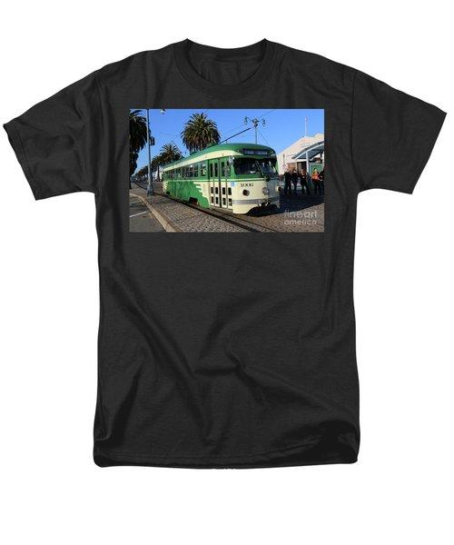 Sf Muni Railway Trolley Number 1006 Men's T-Shirt  (Regular Fit) by Steven Spak