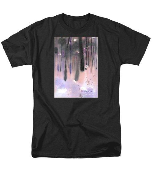 Men's T-Shirt  (Regular Fit) featuring the painting Shades Of Forest by Yolanda Koh