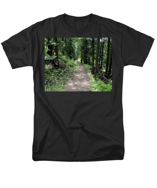 Men's T-Shirt  (Regular Fit) featuring the photograph Shady Grove Path by Ben Upham III