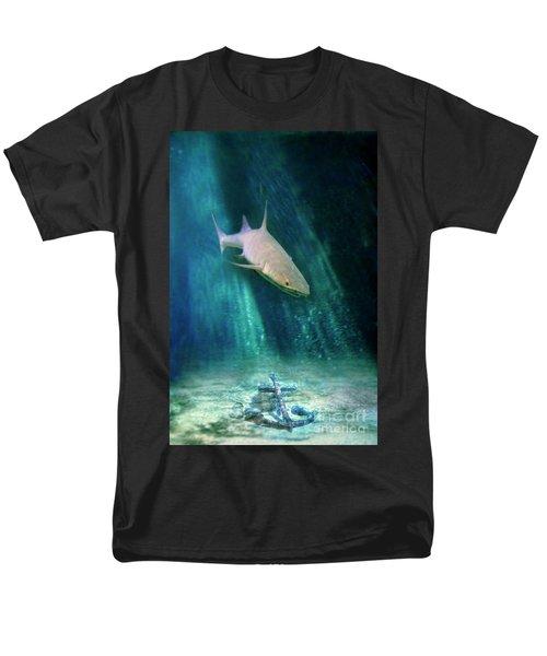 Men's T-Shirt  (Regular Fit) featuring the photograph Shark And Anchor by Jill Battaglia