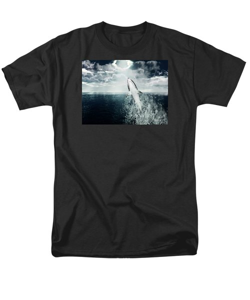 Men's T-Shirt  (Regular Fit) featuring the photograph Shark Watch by Digital Art Cafe