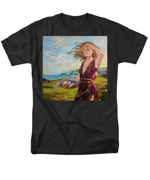She Baked The Loaves And Dried The Fishes Men's T-Shirt  (Regular Fit) by Robin Birrell