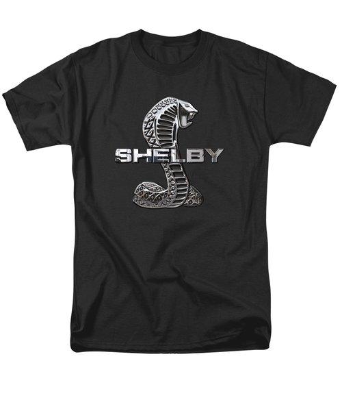 Shelby Cobra - 3d Badge On Black Men's T-Shirt  (Regular Fit) by Serge Averbukh