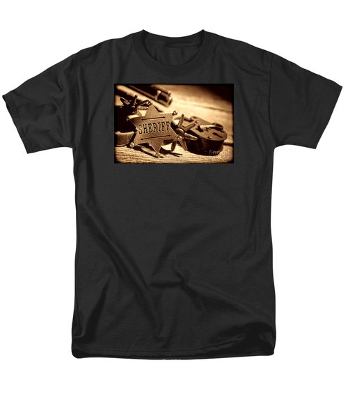 Sheriff Tools Men's T-Shirt  (Regular Fit) by American West Legend By Olivier Le Queinec
