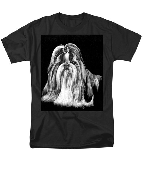 Men's T-Shirt  (Regular Fit) featuring the drawing Shih Tzu by Rachel Hames
