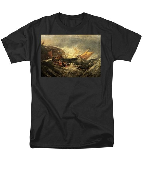 Men's T-Shirt  (Regular Fit) featuring the painting Shipwreck Of The Minotaur by J M William Turner