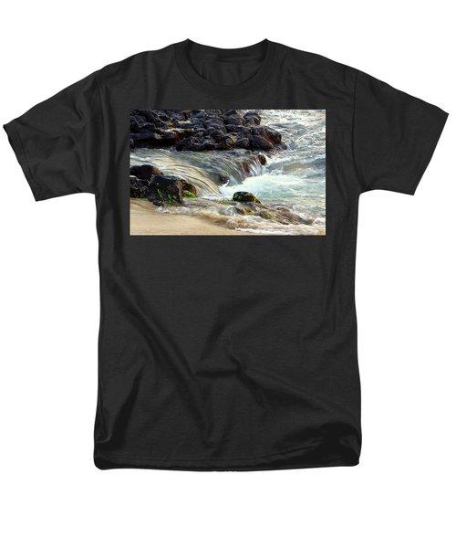 Men's T-Shirt  (Regular Fit) featuring the photograph Shoreline by Lori Seaman