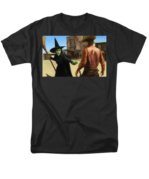 Men's T-Shirt  (Regular Fit) featuring the painting Showdown by James W Johnson