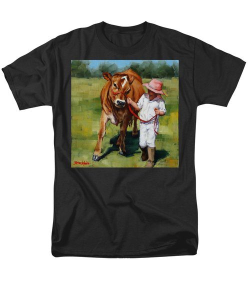 Men's T-Shirt  (Regular Fit) featuring the painting Showgirls by Margaret Stockdale