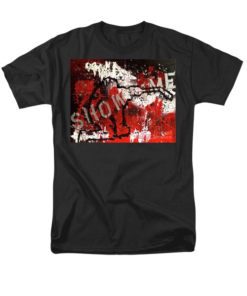 Men's T-Shirt  (Regular Fit) featuring the painting Showtime At The Madhouse by Melissa Goodrich