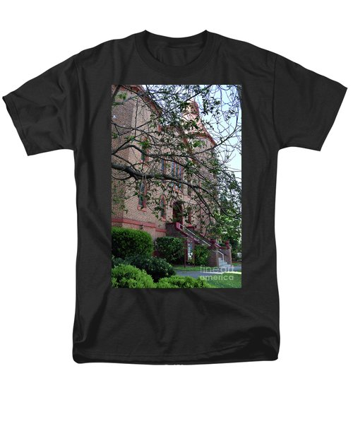 Men's T-Shirt  (Regular Fit) featuring the photograph Sidney Park Cme Church by Skip Willits