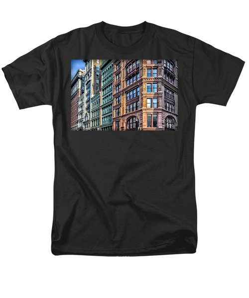 Men's T-Shirt  (Regular Fit) featuring the photograph Sights In New York City - Colorful Buildings by Walt Foegelle
