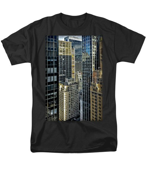 Men's T-Shirt  (Regular Fit) featuring the photograph Sights In New York City - Skyscrapers Shot From Skyscraper by Walt Foegelle