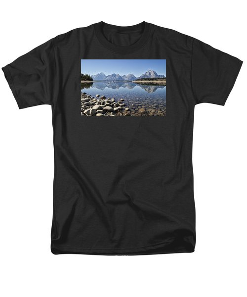 Men's T-Shirt  (Regular Fit) featuring the photograph Jackson Lake  Near Signal Mountain Lodge by Shirley Mitchell