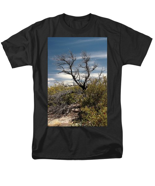 Men's T-Shirt  (Regular Fit) featuring the photograph Signs Of Life After The Fire by Joe Kozlowski