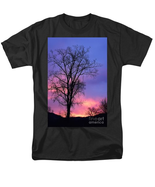 Men's T-Shirt  (Regular Fit) featuring the photograph Silhouette At Dawn by Larry Ricker