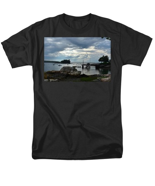 Silhouetted Views From Bustin's Island In Maine Men's T-Shirt  (Regular Fit) by DejaVu Designs