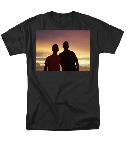 Silouettes Men's T-Shirt  (Regular Fit) by Val Oconnor