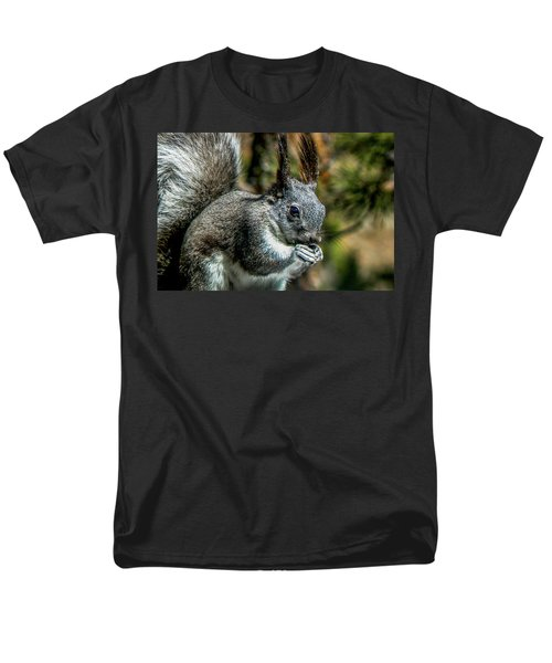 Silver Abert's Squirrel Close-up Men's T-Shirt  (Regular Fit) by Marilyn Burton