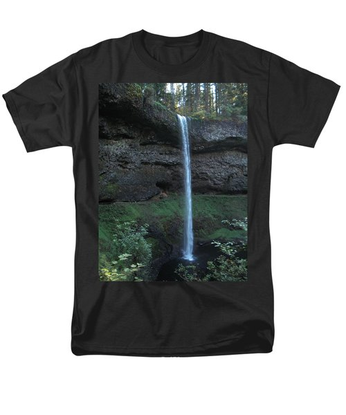 Men's T-Shirt  (Regular Fit) featuring the photograph Silver Falls by Thomas J Herring
