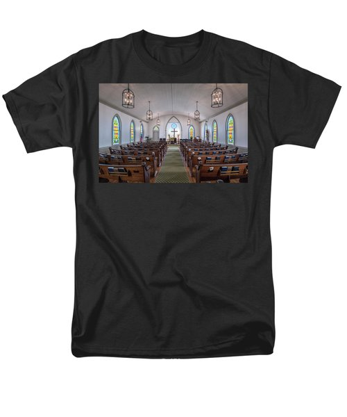 Simple Worship Men's T-Shirt  (Regular Fit) by Andy Crawford