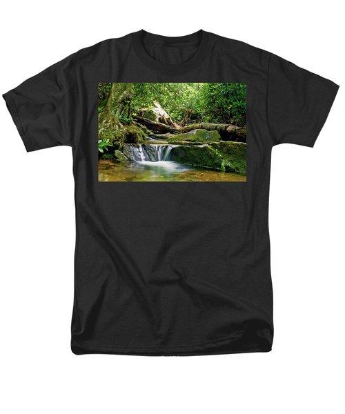 Sims Creek Waterfall Men's T-Shirt  (Regular Fit) by Meta Gatschenberger