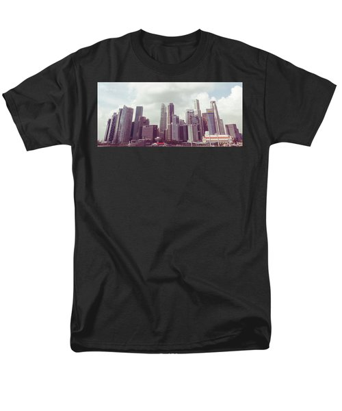 Singapore Cityscape The Second Men's T-Shirt  (Regular Fit) by Joseph Westrupp