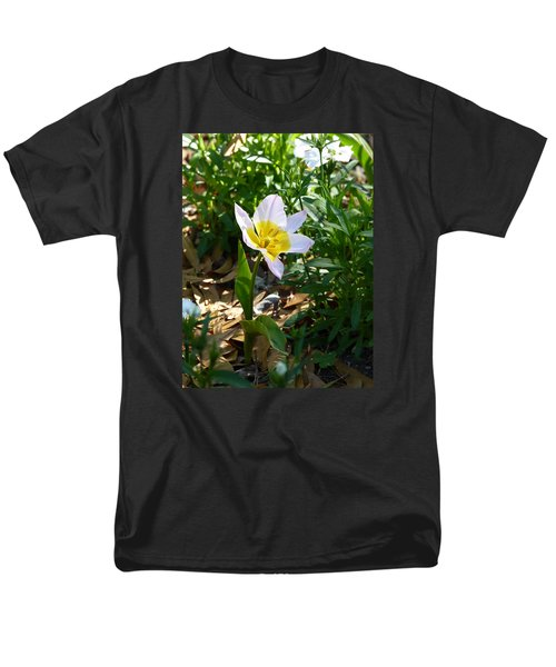 Men's T-Shirt  (Regular Fit) featuring the photograph Single Flower - Simplify Series by Carla Parris